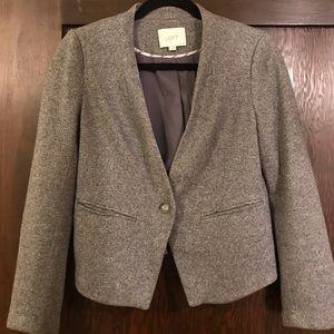 Loft cropped grey blazer